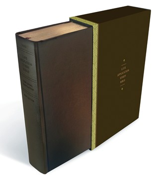Life Application Study Bible, Leatherlike Hardcover, Espresso Brown
