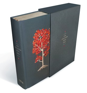 Life Application Study Bible, Linen Hardcover, Red Flourishing Arbor