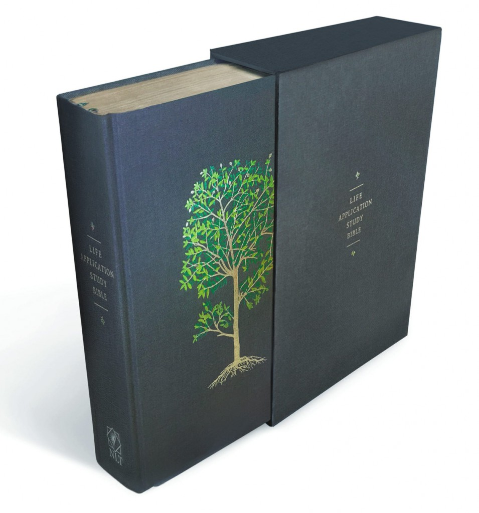 Life Application Study Bible, Linen Hardcover, Green Flourishing Arbor