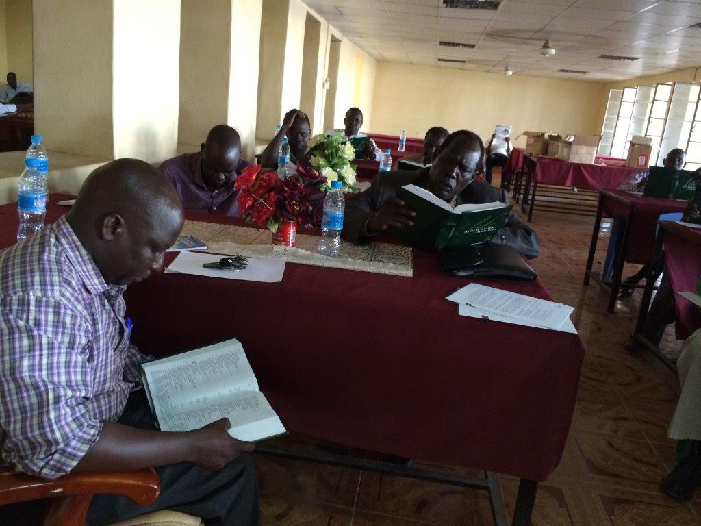 South Sudan pastors are introduced to LASB.