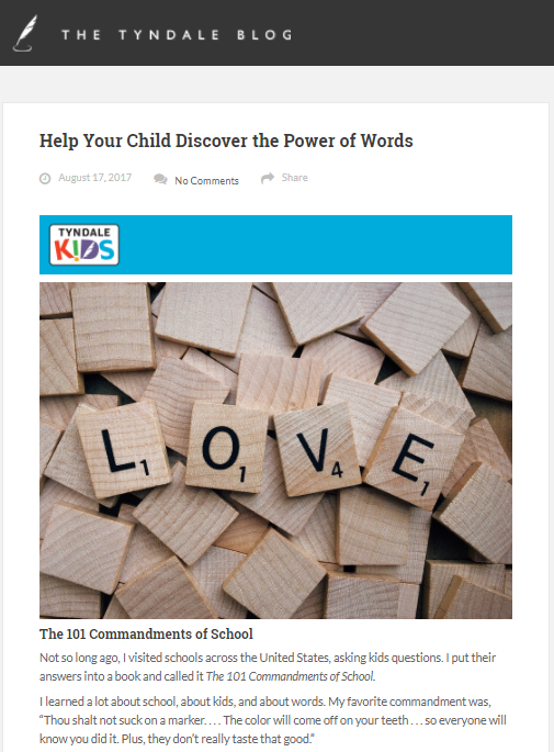Help Your Child Discover the Power of Words